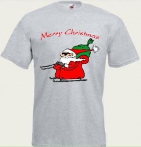 koszulka święty mikołaj na saniach