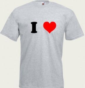 koszulka i love z własnym imieniem