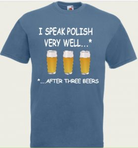 t-shirt i speak polish