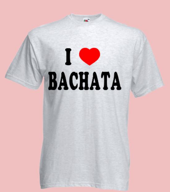 koszulka z napisem i love bachata