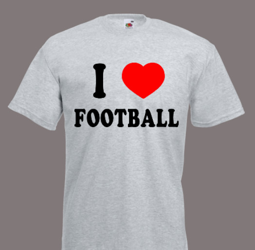 koszulka i love football
