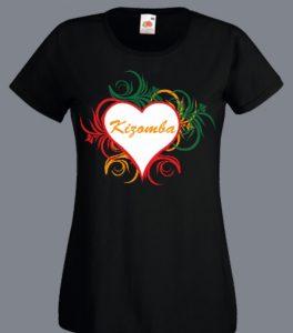 koszulki z napisem kizomba w sercu
