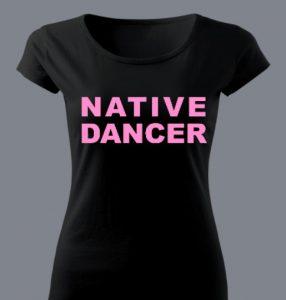 bluzka z napisem tancerka
