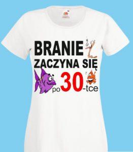 koszulka urodziny 30 branie