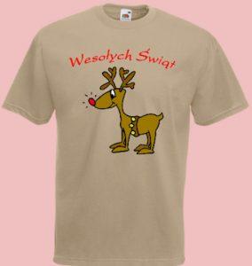 koszulka renifer święta