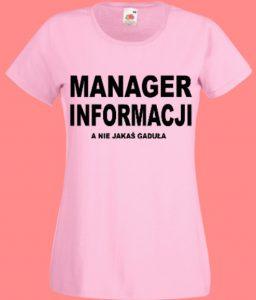 koszulka menager informacji