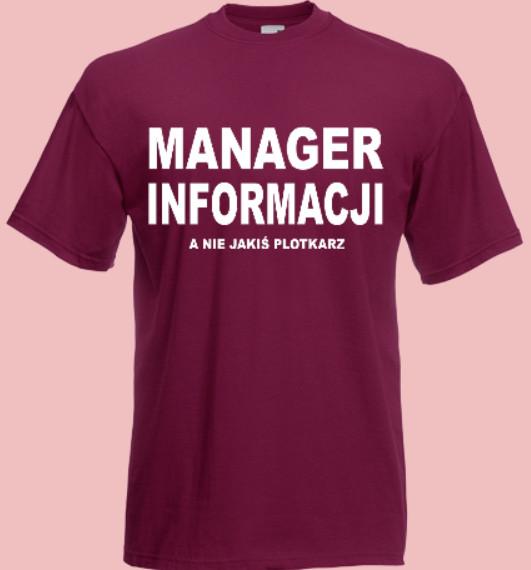 koszulka plotkarz manager informacji
