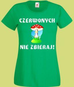 koszulka muchomor grzyby