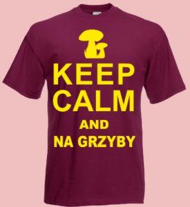 koszulka grzyby keep calm