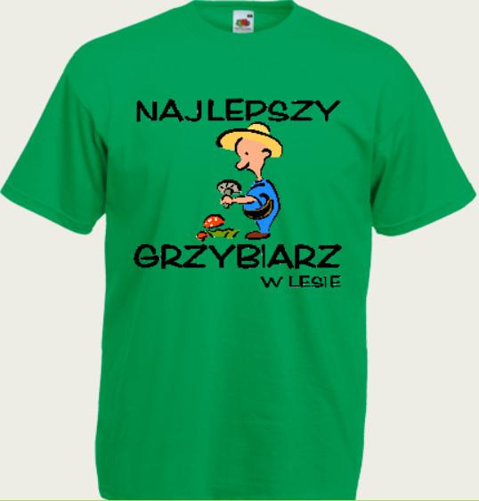 koszulka z naspisem grzybiarz