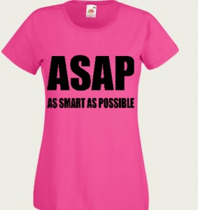 koszulka z napisem as smart as posible