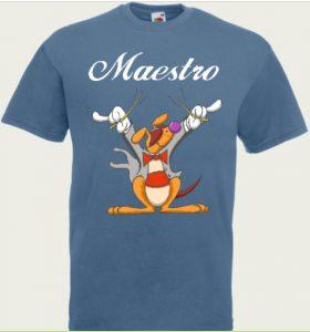 t-shirt z napisem maestro dyrygent
