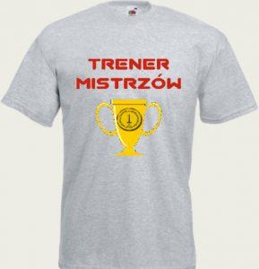 koszulka z napisem trener