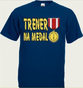 koszulka trener z medalem