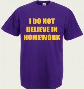 koszulka męska believe homework