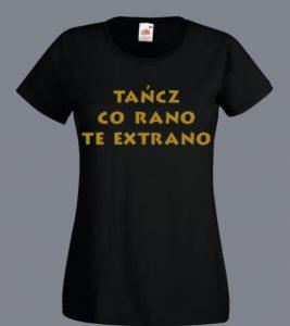 bluzka bachata z napisem