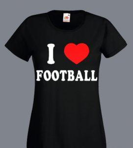 bluzka damska i love footbal