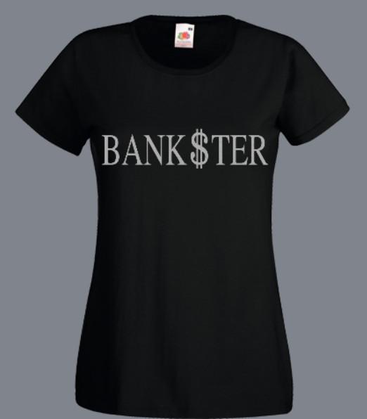 t-shirt z napisem bankster