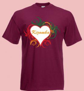koszulka z sercem i napisem kizomba