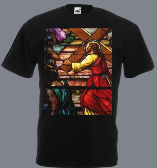Jezus krzyż koszulka