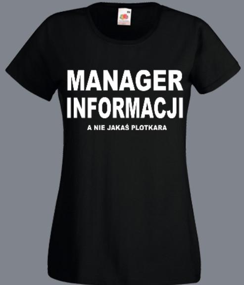 śmieszna koszulka plotkara
