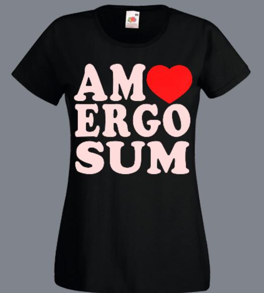 koszulka damska amo ergo sum