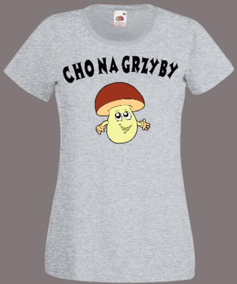 koszulka grzyby damska