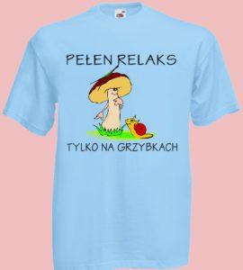koszulka grzybki ślimak