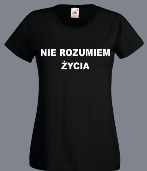 prezent psycholog koszulka nie rozumiem zycia